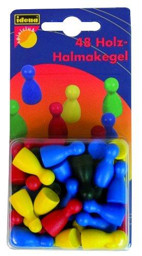 Imagen principal de Idena 6152079 - Pack de 48 conos de madera de colores [Importado de Alemania]