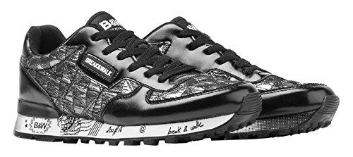 Break&Walk Donna Sneakers Mujer Acolchado scarpe sportive argenteo Size: 36