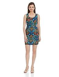 NUN Women's Tulip Dress (NUNDR5350_Multicoloured_L)