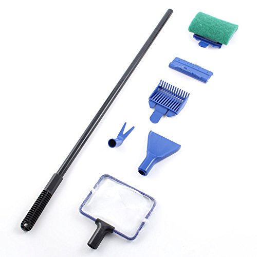 Yosoo 5 in 1 aquarium fish tank cleaning tool set cleaner for Fish cleaning kit