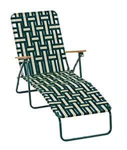 5 Position Web Chaise Lounger from Camping station