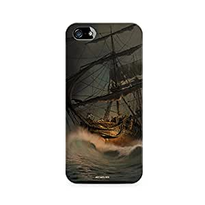 Motivatebox - Apple Iphone 4/4s Back Cover - Ships in storm Polycarbonate 3D Hard case protective back cover. Premium Quality designer Printed 3D Matte finish hard case back cover.