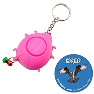 HQRP Dog Anti-Bark Emergency Alarm Gift Keychain, Self Defense plus HQRP Coaster