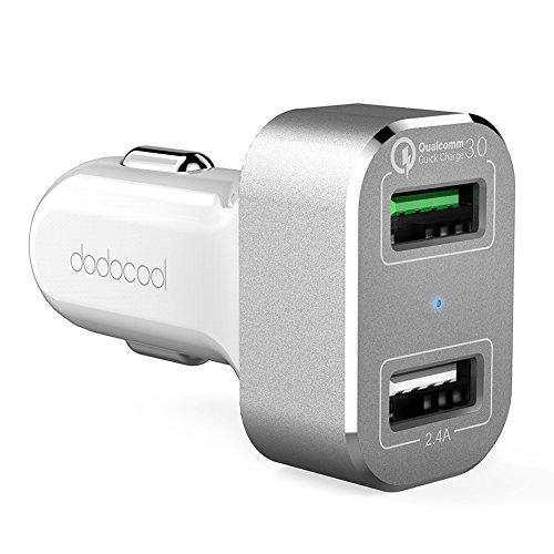 dodocool 30W デュアルUSBカーチャージャー  Quick Charge 3.0 超急速充電対応 USB充電器 2ポート