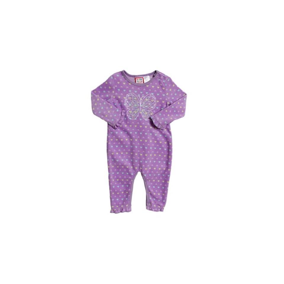 1032599d1e29 Baby Togs Newborn Baby Girls 1 Piece Purple Butterfly Polar Fleece ...