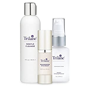 Trilane Cleanser, Moisturizer, and Eye Cream Anti-Aging Beauty Kit