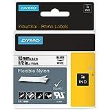 Dymo Rhino Industrial Labels Flexible Nylon 12mm x 3.5m - Black on White