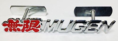 [해외]3D JDM 금속 전면 그릴 그릴 배지 엠블럼 디 컬 후드 자동 자동차 혼다 무겐 파워/3D JDM Metal Front Grille Grill Badge Emblem Decals Hood Auto Car Honda