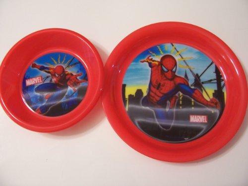 Spiderman Sky 2 Piece Set ~ Plate & Bowl.