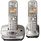 Panasonic KX-TG4022N DECT 6. PLUS Expandable Digital Cordless Phone with Answering Method, Champagne Gold, 2 Handsets