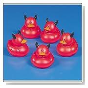 Red Devil Rubber Duckie Ducky Duck