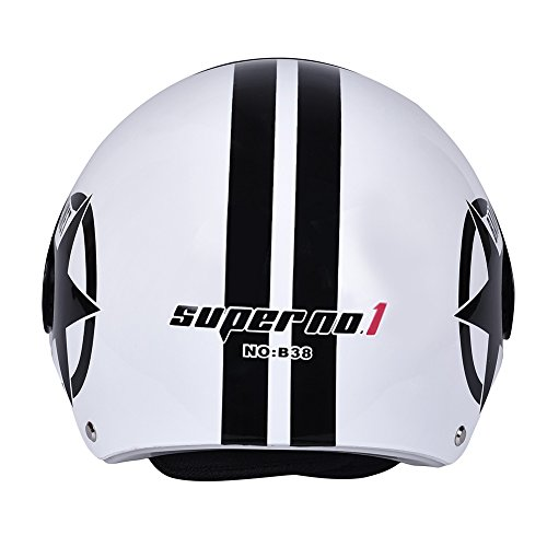 LianLe Matte Star and Stripe Motorcycle Half Face Helmet Bicyle Bike Helmet 56cm-60cm Unisex
