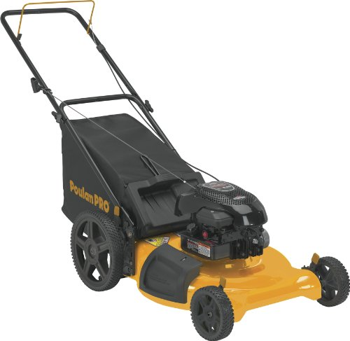 Poulan Pro PR550N21RH3 3 in 1 Side Discharge, Mulch and Bag with High Wheel Push Mower, 21-Inch