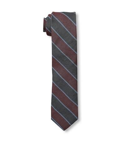 Gitman Men's Diagonal Stripe Tie, Black