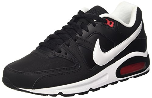 Nike Herren Air Max Command Leather Sneakers, Schwarz (Black/White-Action Red), 43 EU thumbnail