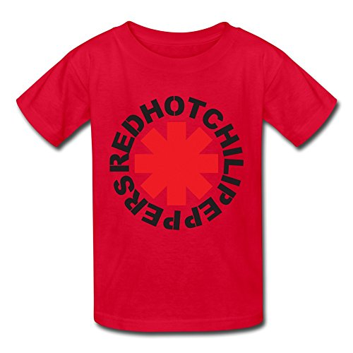 Crew Neck Red Hot Chili Peppers Logo Youth Kids Boys Girls T Shirt Red XL (Red Hot Chili Peppers Crewneck compare prices)