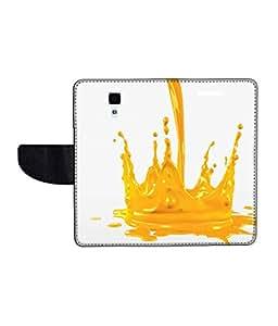 KolorEdge Printed Flip Cover For Redmi Xiaomi MI4 Multicolor - (50KeMLogo11948XiaomiMI4)