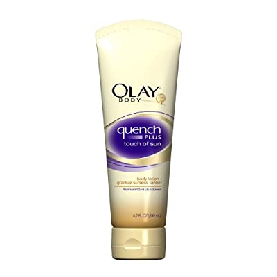 Cheapest Olay Quench Plus Touch Of Sun Body Lotion - Medium/Dark 6.7 Fl Oz (Pack of 3) by P & G - Free Shipping Available