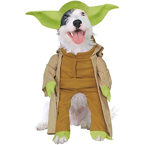 [Yoda Dog Costume Star Wars Pet Halloween Fancy Dress Jedi Master Cute Fancy Dress UpQuality Product (M] (Large Dog Spider Halloween Costume)