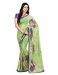 Indian Designer Sari Amusing Floral Printed Faux Georgette Saree By Triveni