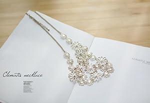 Buyinhouse Creative Romantic Flower Pendant Camellia Flower Pendant Short Style Necklace Suitable for Ladies OL