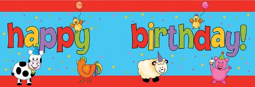 Creative Converting Barnyard Bash Giant Party Banner With Stickers front-518274