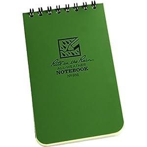 Rite in the Rain Pocket Notebook Top Spiral Bound - Green/Green, 3 x 5 Inch