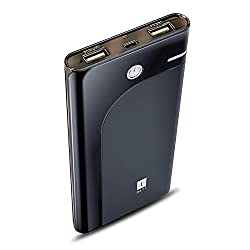iBall Portable SLIM Power Bank With Dual USB Port & Rechargeable Power Battery 10000mAh PB-10008-Black