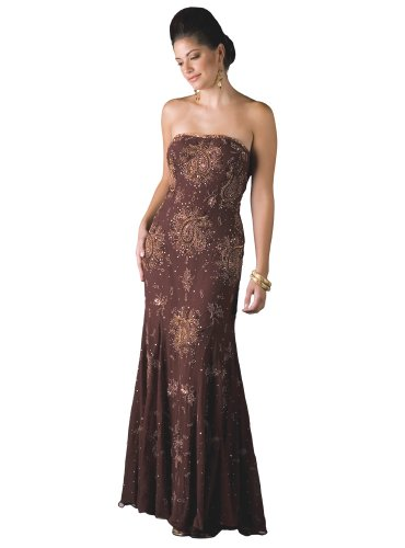 Formal Evening Gown. Silk Strapless Dress for Prom, Party, Wedding by Sean Collection (70062)