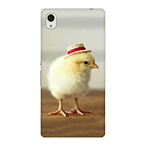 Delighted Hat Chik Back Case Cover for Xperia M4 Aqua