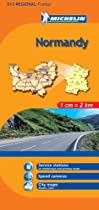 Michelin Map Normandy, France (Michelin Maps)