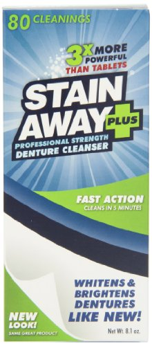 Regent Labs StainAway Plus, 8.1-Ounce (Pack of 4) (Denture Cleaners compare prices)