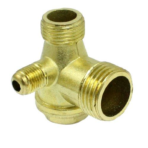 uxcell® Male Thread Brass Air Compressor Check Valve Spare Parts Gold Tone (Air Compressor T Valve compare prices)