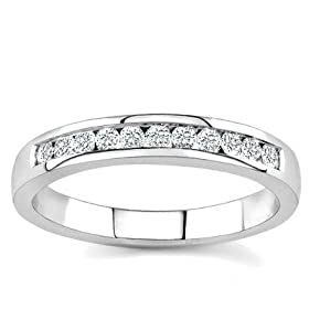 10k White Gold or Yellow Gold Channel-Set Diamond Band (H/I2-I3, 1/4 ct. tw.) - Cheap jewelry sale - body jewelry, fashion jewelry, costume jewelry & discount jewelry :  fashion jewelry jewelry television discount jewelry for sale jewelry stores