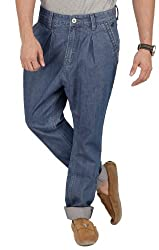 Zaab Mens Cotton Jeans -Blue -30