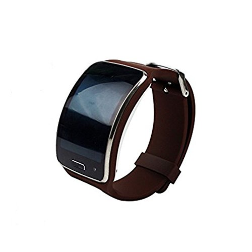 Supower® Replacement of Samsung Gear S Smartwatch Band with Metal Buckle for Super AMOLED Display Wearables Brown