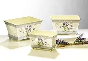 Cache-pots - décoration de lavande (3er sets)