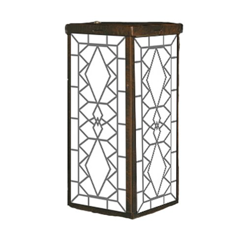 Mr. Light Stained Glass Design Solar Projection Lantern with Bronze Plated Finish