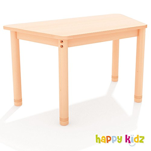 "Tisch trapezförmig ""Happy Classic"" 70 x 110 cm, variable Höhe buche"