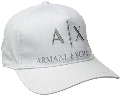 Armani Exchange Men's Corporate Logo Hat, White, One Size (Armani Cap compare prices)