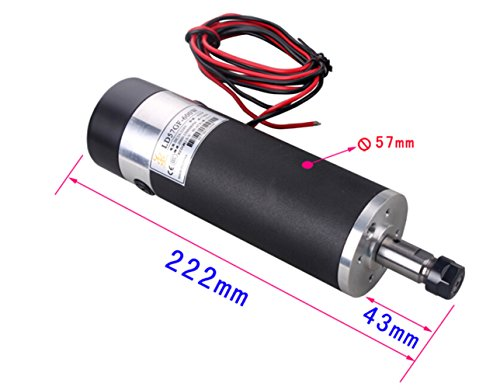 600w Dc24v 110vdc High Speed Air Cooled Spindle Motor With