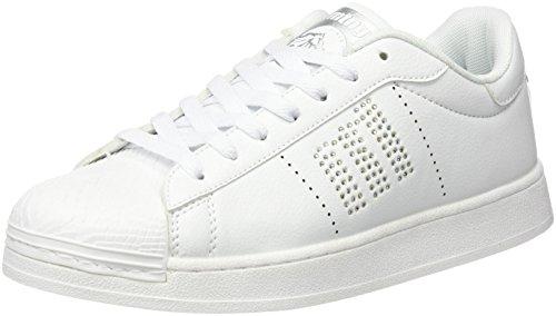 MTNG Attitude (MTNG8) 69783 - Scarpe da Ginnastica Basse da Donna, colore Bianco (Action Pu White/Piedras Silver), taglia 38