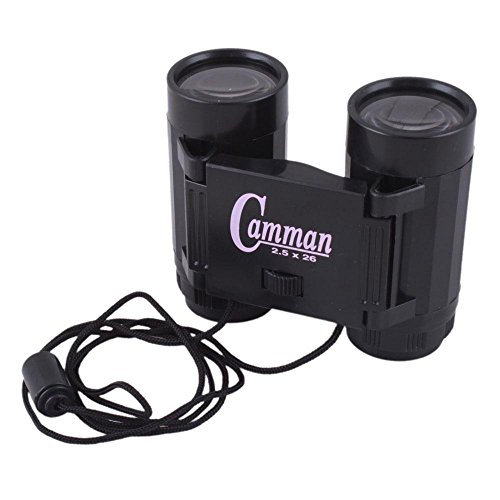 2.5 X 26 Binoculars Mini Children Telescopes Portable Toy Black