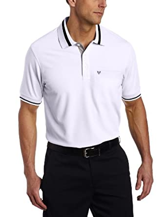 Callaway Golf Men's Chev Pocket Polo (Bright White, Medium)