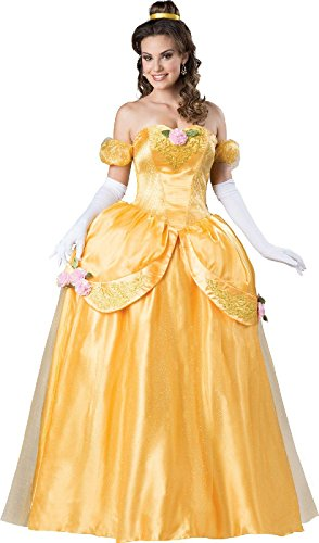 Yellow Fairytale Princess Elite Costume For Adults