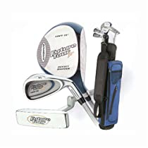 Intech Future Tour Junior Golf Set, (Left-Handed, Age 6 to 11, Oversize Driver, Mirror Finish 5 and 9 Irons, Putter, Collapsible Nylon Bag)
