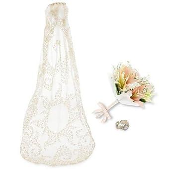 Rapunzel Wedding Costume Accessory Set for Girls 3-Pc.