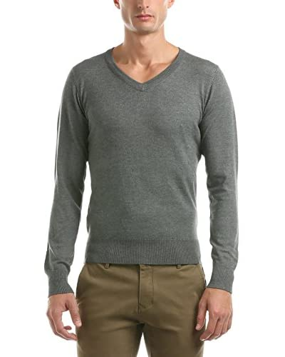 Hot Buttered Pullover V Neck Knitwear grau