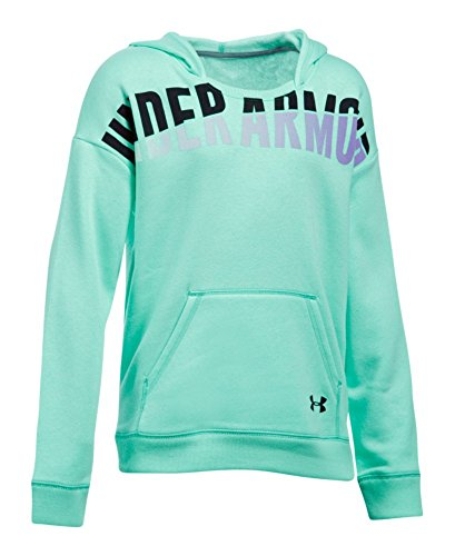Under Armour Girls' Favorite Fleece Hoodie, Crystal (960), Youth Small