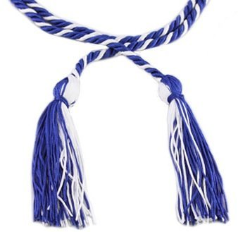 Graduation Honor Cords (Royal Blue and White) (Graduation Cords compare prices)